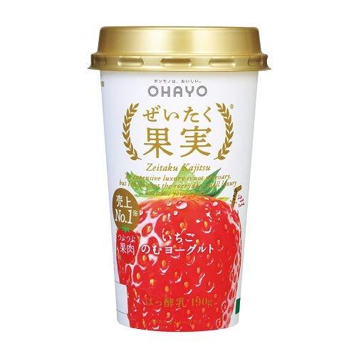 オハヨー乳業『ぜいたく果実 いちごのむヨーグルト』