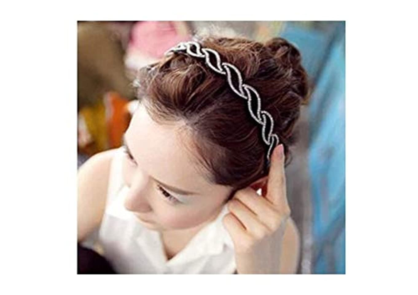 ポスター更新するおしゃれなMINGTAI ヘアピンヘッドバンドワイド側シンプルなヘアアクセサリーラインストーン多彩な髪のリングの髪フープエレガントレディヘッドバンド韓国語バージョン