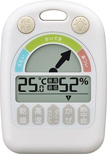 NOA(ノア) MAG デジタル温湿度計メリー(ホワイト) N-025WH-Z 持ち歩きもできるコンパクトな温湿度計