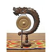 ゴング 銅鑼(どら) 卓上 サイズ A H.33cm アジアン雑貨