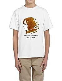 面白い 子供 アラン リックマン スネイプ U首シャツ 体に合う White