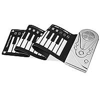 49のキーは環境のシリコーンのピアノキーボードの休日が付いているピアノの改善された携帯用電子手ロールピアノを転がします,Silver