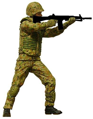 モデリウム 陸上自衛隊普通科隊員 立ち射撃ポーズ 1/35スケール レジンキャスト製 未塗装 未組立フィギュア