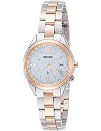 [ルキア]LUKIA 腕時計 LUKIA ソーラー電波 ダイヤ入り白蝶貝文字盤 チタンモデル SSQV040 レディース