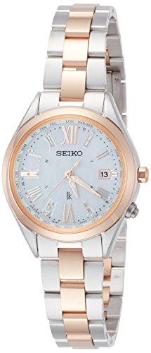 ルキアLUKIA 腕時計 LUKIA ソーラー電波 ダイヤ入り白蝶貝文字盤 チタンモデル SSQV040 レディース