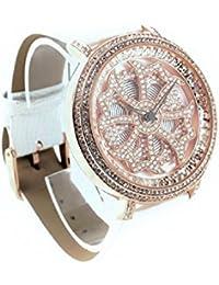 un bel tocco (ウンベルトッコ)グルグル時計 文字盤が回る くるくる時計 ビッグフェイスデザイン AROUND-WATCH (ホワイト)