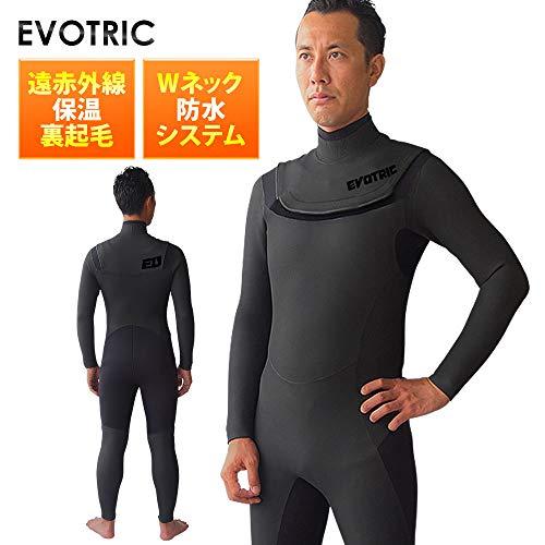 セミドライスーツ ウェットスーツ メンズ セミドライ ウエットスーツ サーフィン EVOTRIC 5/3mm 保温起毛素材 ノンジップ
