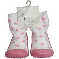 ES Kids Rubber Soled Socks - Pink Star 12-18mths, Pink