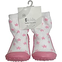 ES Kids Rubber Soled Socks - Pink Star 18-24mths, Pink, 150 Gram