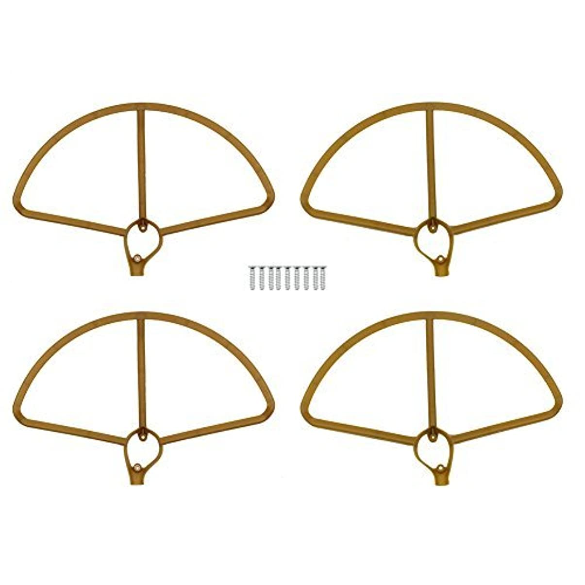 結婚どうしたの効果的にBTG Propeller Guards for Hubsan H501S/H501C - Color: Golden Brown or White (Golden Brown) [並行輸入品]