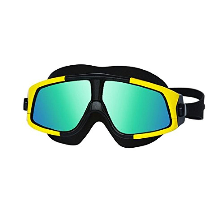 Swim Goggles、sacow漏れしませんアンチフォグ水泳ゴーグルUV保護のワイドビューメガネ大人用メンズレディース as show