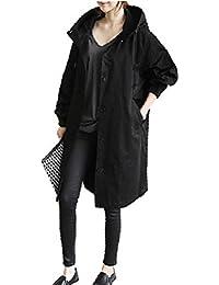 Bahagia (バハギア) ゆったり フード付き モッズコート 大人 カジュアル アウター 上着 ジャケット ロングコート コート 無地 シンプル