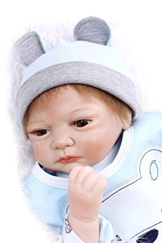 22インチLifelike Little Baby新生児シリコンReborn人形Collectible Girls Toy Gifts収集