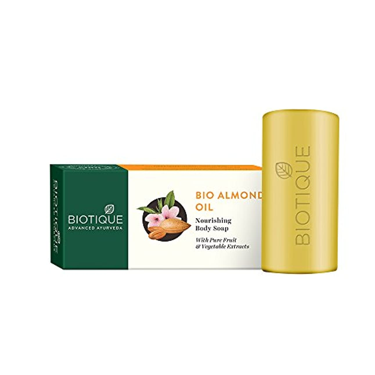 破滅繊維引用Biotique Pure Vegetable Cleanser - Almond Oil Soap 150g