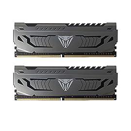 Patriot Viper Steelスシリーズ デスクトップ用extremeパフォーマンス、独自のアルミグリース DDR4 PC4-30900 (3866MHz) 1.35V 16GBキット- PVS416G386C8K
