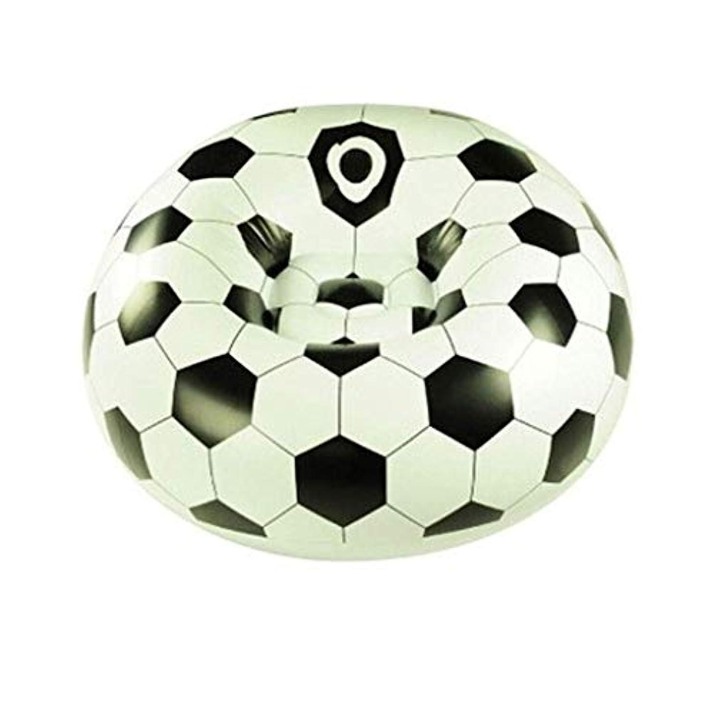 モンク影響する抑制家庭用エアベッドラテックスフットボールシングルソファインフレータブルラウンジャーシングルインフレータブルランチ休憩チェア110×80 cm