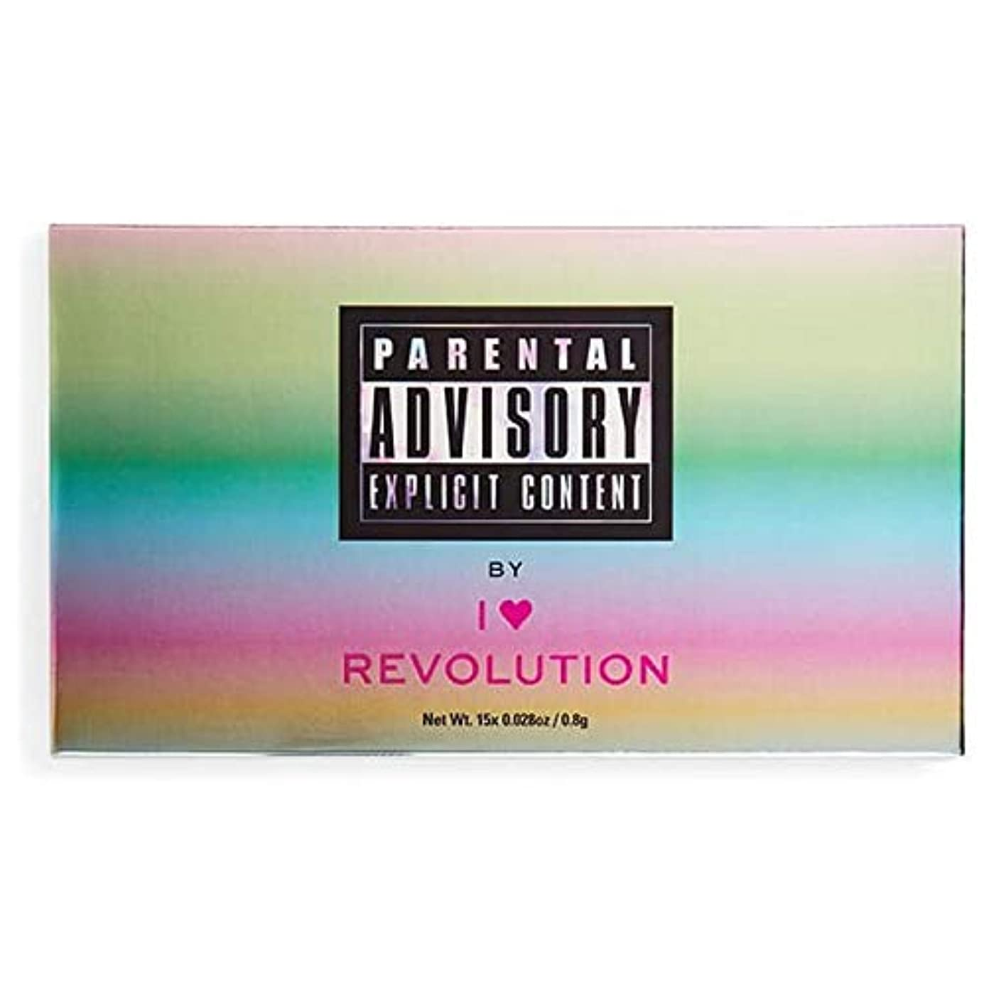 下手洞窟ライバル[I Heart Revolution ] 私は心の革命親の諮問パンデモニウムアイパレット - I Heart Revolution Parental Advisory Pandemonium Eye Palette [...