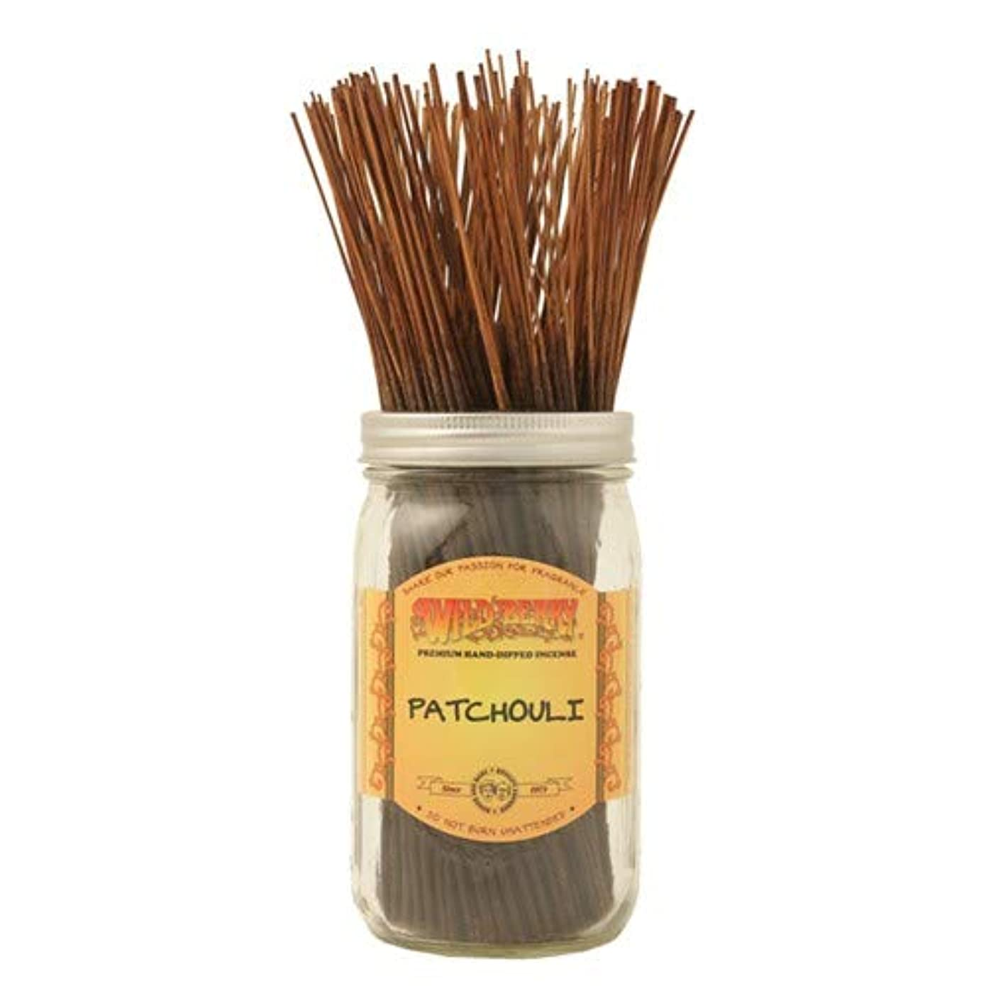 自分の岸過半数Patchouli - 100 Wildberry Incense Sticks