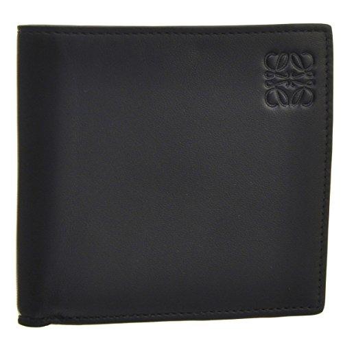 LOEWE(ロエベ) 財布 メンズ カーフスキン 2つ折り財布 ブラック×カーキグリーン 10980501-0004-1217 [並行輸入品]