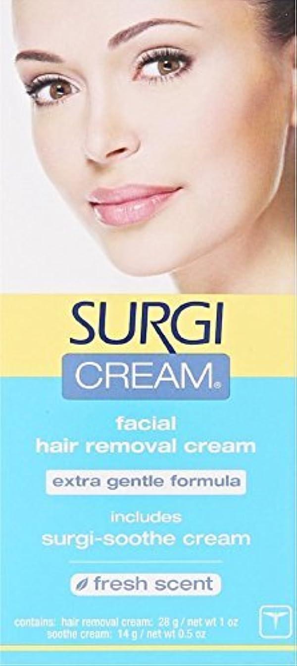 何もない色虚弱SURGI-CREAM Facial Hair Removal Cream 1 oz by Surgi-Cream