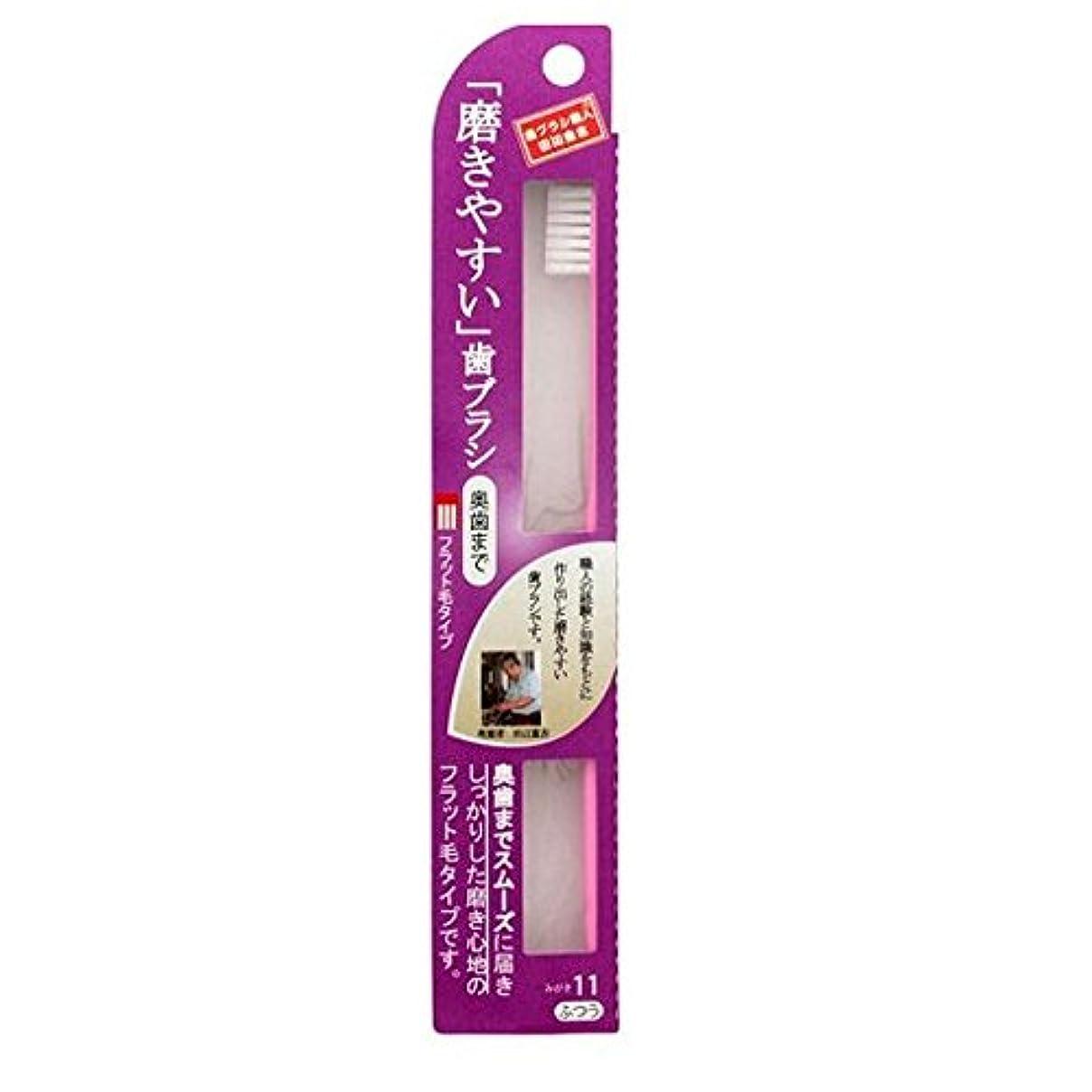 プレゼント添付配当磨きやすい歯ブラシ(奥歯まで)フラット LT-11