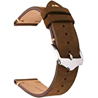 EACHE Genuine Leather Watch Bands Crazy Horse/Oil Wax/Suede/Vegetable-Tanned/Italy Bamboo Pattern Leather Watch Straps Replacement watchbands 18mm 20mm 22mm