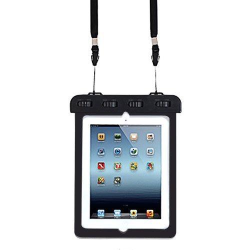 ノーブランド品 防水ケース iPad Air 2 iPad 2 3 4 など タブレット 用 10インチ まで 対応 防水保護 等級 IPX8 取得 ストラップ付