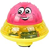 ZOZOE Sprinkler Ball Toy Spray Water Baby Bath Toy Floating with Light Automatic Electric Induction Sprinkler Toy Amphibious Interesting Light Music Toys Birthday Gift for Toddler Kid Party Toy