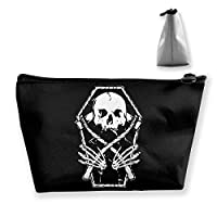 Reaper Skull 収納バッグ 化粧ポーチ メイクポーチ コスメ収納ケース ラダー 旅行メイクバッグ 洗面用具 小物入れ 旅行用品 防水仕様 可愛いバック Makeup Pouch 細かく整理できる