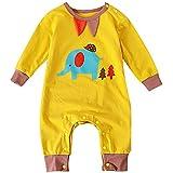 EOZY ベビー カバーオール 長袖 ロンパース ライオン柄 男の子 女の子 新生児 赤ちゃん服 肌着 可愛い 出産祝い 子供服 春秋 ルームウエア