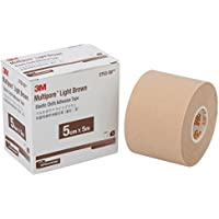 スリーエム(3M) 3M 包帯 粘着性綿布伸縮 マルチポア ライトブラウン 5cm幅x5m 1巻 2753-50