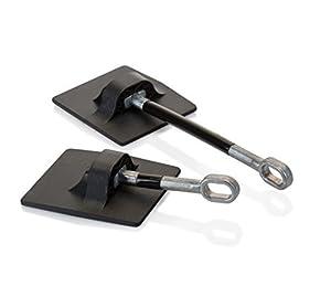 冷蔵庫のドアロック (南京錠は付属していません) - ブラック