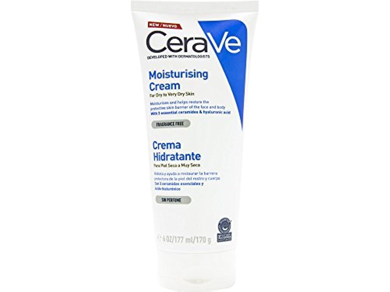 疫病自分を引き上げる認知Cerave Dry And Very Dry Skin Moisturizing Cream 170ml [並行輸入品]