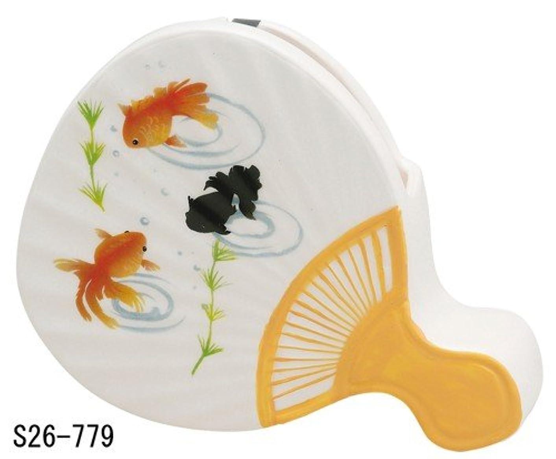 蚊遣器 うちわ 金魚 s26-779