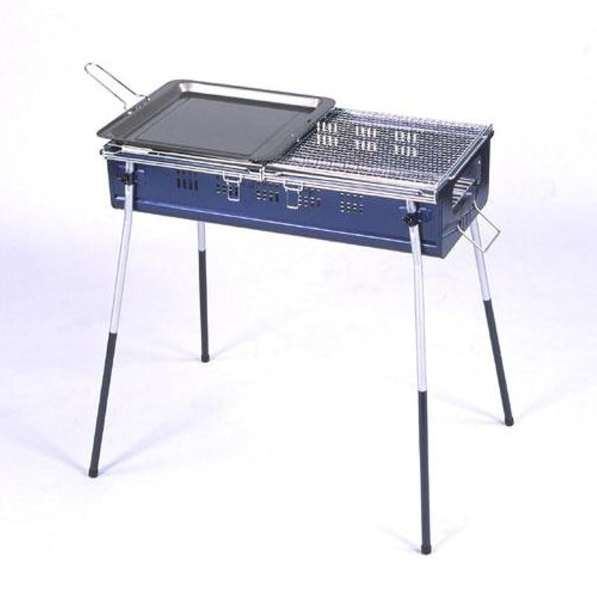 チャンバー愛監査バーベキューコンロ CB-650NSL20☆焼き網スライドで焼きすぎ防止&炭足し簡単!