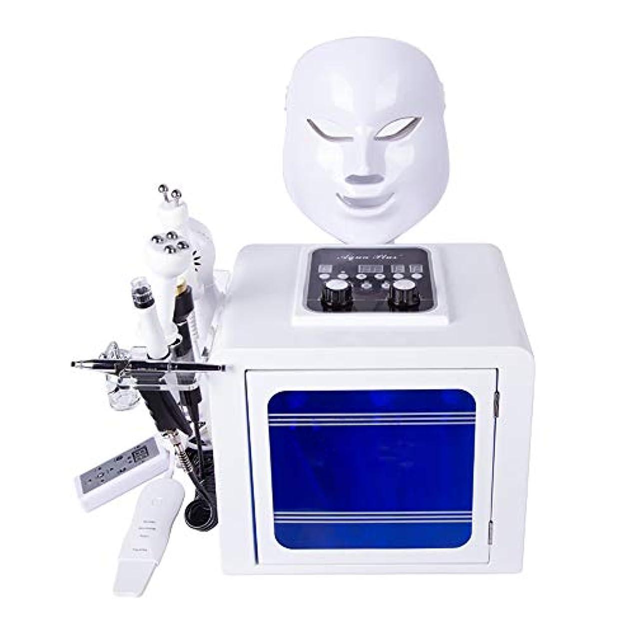 恐ろしいシェードオン8 1つの水の酸素マシンでは、スキンケアインジェクションフェイシャルモイスチャライジングクリーニング毛穴クリアのためのBIOマイクロマッサージ皮膚剥離ツールを持ち上げる無線周波数ハイドロジェ