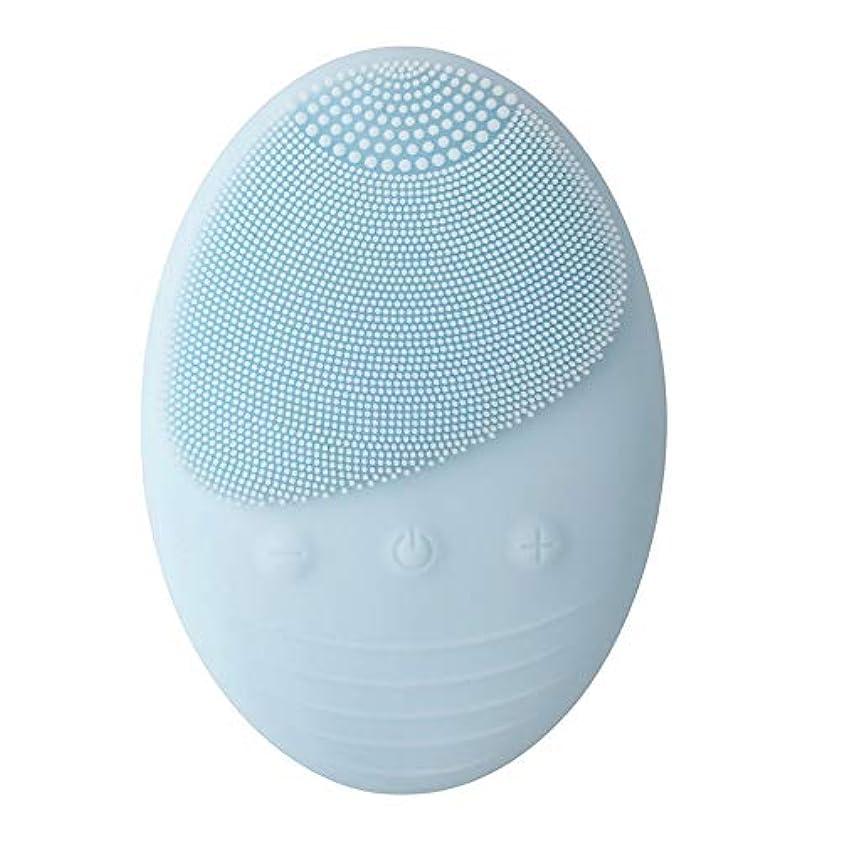 計画洗練比較的ZXF 新しい電気シリコーンクレンジング機器ワイヤレス誘導電気洗浄機器美容機器ブルー 滑らかである