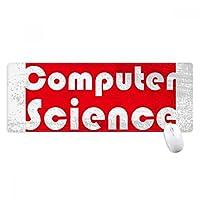 コースと主要なコンピュータ・サイエンス・レッド ノンスリップゴムパッドのゲームマウスパッドプレゼント