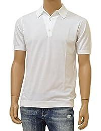 JOHN SMEDLEY(ジョン スメドレー)半袖ニットポロシャツ「STANDARD FIT」ejd16s004(ADRIAN:ホワイト)