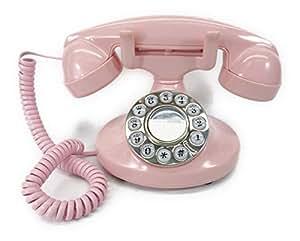 レトロ スタイル ピンクの キュートな 電話機 オシャレな 姫系 インテリア電話