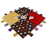 ACHICOO タオル ベビー用タオル 赤ん坊 慰める 柔らかい 正方形 なだめるタオル プラシ おもちゃ 子供 睡眠 漫画 かわいい モンキー