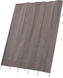 不二貿易 洋風たてす 240cm×300cm ブラウン 84031