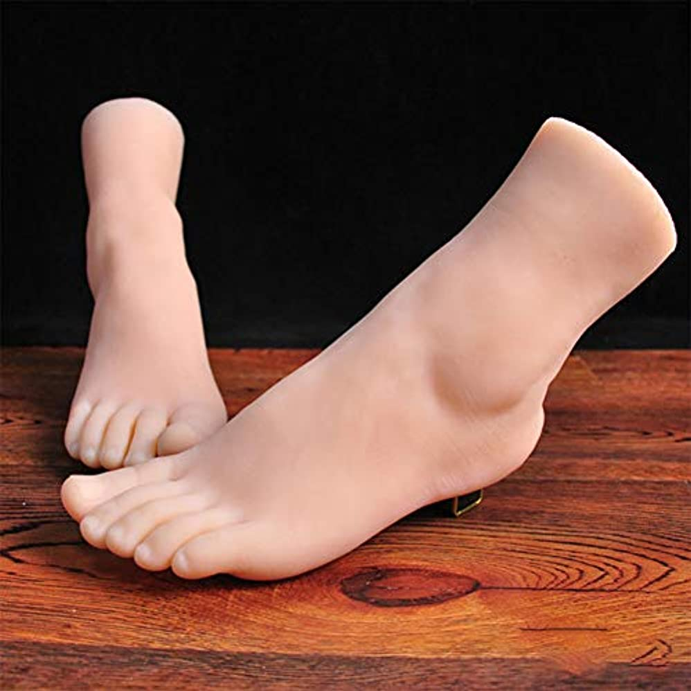 凝視足首過去スケッチネイルアートの練習ジュエリー靴ソックスディスプレイとして膝とシリコーン女性のマネキンライフサイズフット