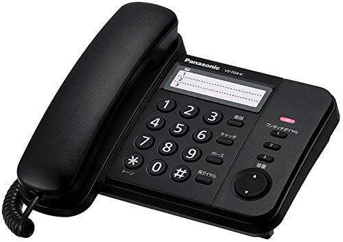 パナソニック 電話機 親機のみ ブラック VE-F04-K...