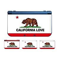 New ニンテンドー 3DS LL 対応 カバー ケース カリフォルニア カリフォルニアフラッグ 旗 州旗 サーファー おしゃれ 熊 ベアー アメリカン アメリカ おしゃれ かっこいい インスタ映え キャリラブ USDM JDM CALILUV 【2】