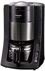 パナソニック 沸騰浄水コーヒーメーカー 全自動タイプ デカフェ豆コース搭載 ブラック NC-A57-K