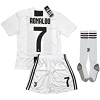 LiveSport New 2018-2019 Ronaldo #7 Juventus Home Jersey Shorts and Socks for Kids & Youths
