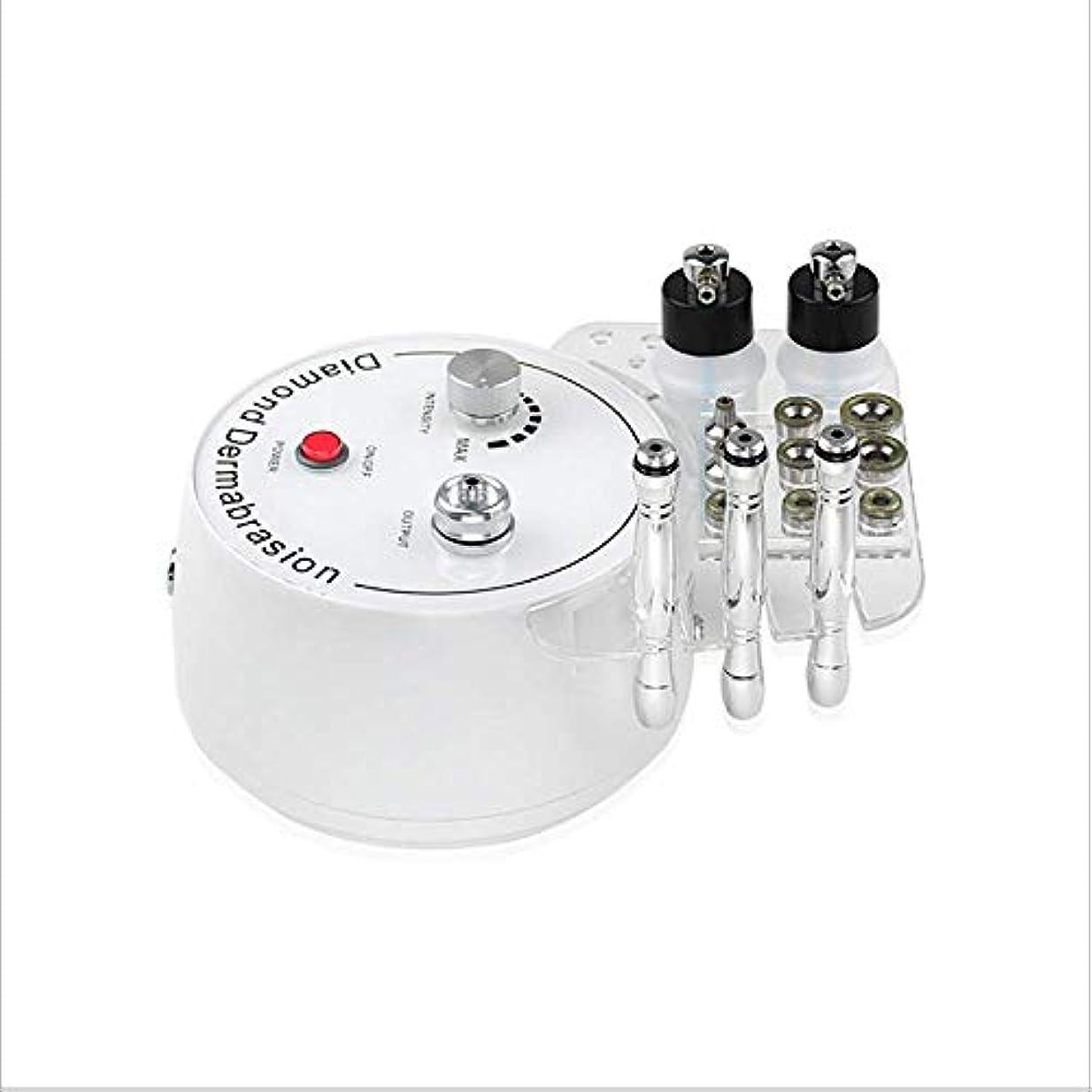 連結する急速な伴う3で1ダイヤモンドマイクロダーマブレーション、斑点除去マイクロダーマブレーションフェイシャルマシンの噴霧器真空と多機能皮膚剥離機