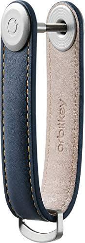 Premium Leather Orbitkey 2.0 (Navy with Tan Stitching)