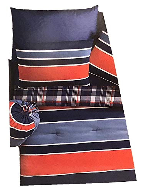 VCNY Home Jeff 格子縞 11ピース 寝具 バッグ入り 赤と青 フル
